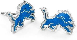 Aminco NFL Detroit Lions Logo Post Earrings Multicolor, 2.5