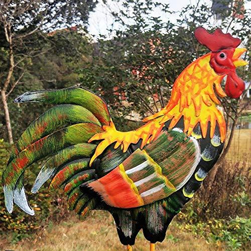 MODGS Color Tradicional Dibujo Gallo Veleta Indicador Wind Spinner Característico Estilo de Gallo para jardín Patio Market Place Patio Tremendous Regular