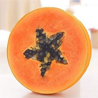 QinWenYan Oreiller de Voyage Creative Éponge Fruits 3D en Peluche Coussin D'assise Coussin d'impression De Cadeau d'annive...