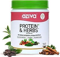 OZiva Protein & Herbs, Women, (Natural Protein Powder with Ayurvedic Herbs like Shatavari, Giloy, Curcumin &...