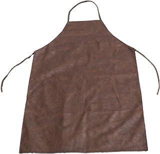 de piel para uso en cocina sal/ón de belleza cer/ámica taller de manualidades Delantal para hombre y mujer jard/ín QEES garaje a prueba de suciedad impermeable