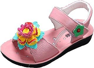 OHmais Enfants Filles Chaussure cérémonie Ballerines à Bride Fête Demoiselle d'honneur Mariage Escarpin à Petit Talon