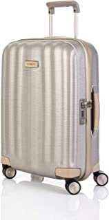 Samsonite Lite Cube Prime 55cm Hard Suitcase Luggage Trolley Ivory Small