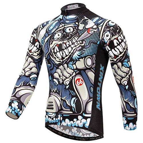 Baymate Unisexe Windproof Maillot de Cyclism Confortable Veste Jersey Vélo Manches Longues S