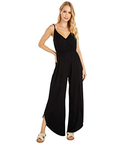 Cupcakes and Cashmere Belle Rayon Jersey Jumpsuit with Wrap Leg (Black) Women