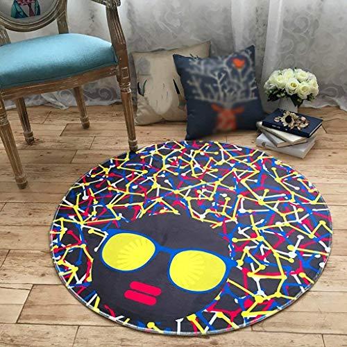 YUJIA2 Haushalt/Mode licht/Cartoon Runde Teppich Polyester Computer Polster, persönlichkeit Trend Wohnzimmer Schlafzimmer schlafsofa Matte Rutschfeste Baby Kriechen Teppich,Durchmesser 80cm