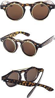 b83130154f281 Nuni Plastic Classic Flip-up Lens Pantos Round Sunglasses Small Size