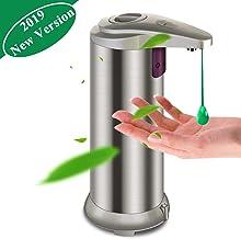 ber/ührungsloser fl/üssiger intelligenter Seifenspender FreeLeben Automatischer Seifenspender 300 ml Seifenspender Infrarot-Bewegungssensorpumpe f/ür das Badezimmer in der K/üche