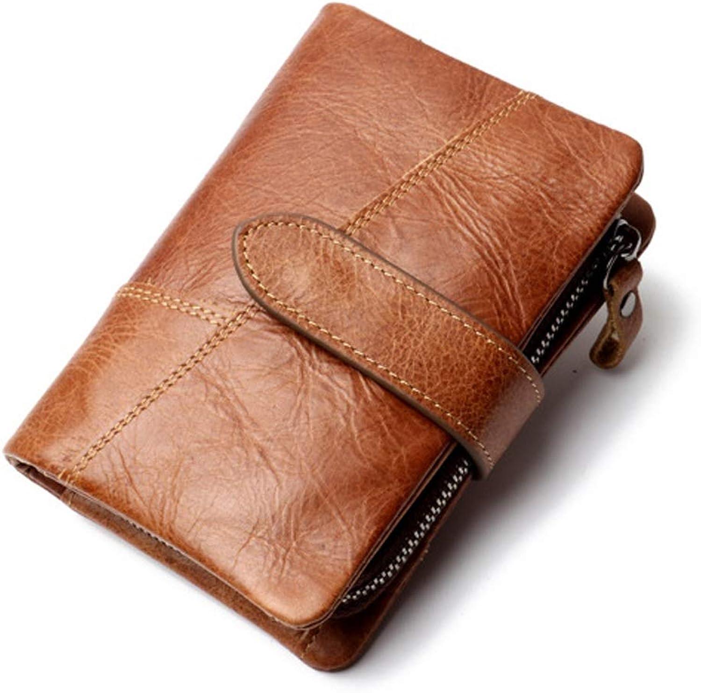 Klerokoh Männer Klapp Mini Wallet RFID Magnetische Magnetische Magnetische Skimming Prävention Große Kapazität Multi Funktion Kurze Brieftasche (Farbe   Brass) B07JMVKVVR 0e2ca3