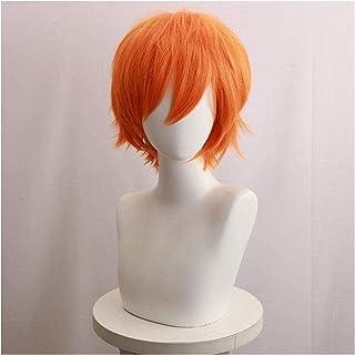 YYCHER Anime Cosplay Wigs Haikyuu Shoyo Hinata Orange Curly Short Wig Cosplay Party Wigs+Wig Cap