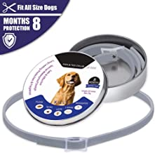 Flea and Tick Collar for Dogs,8 Months Effectiveness Protection with Natural Formula for Dogs and Puppies, Waterproof Full...