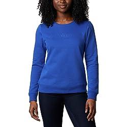Columbia Suéter con Cuello Redondo con Logo, Mujer