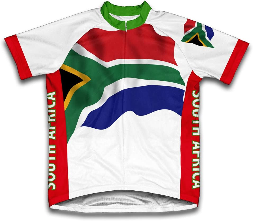 South Africa Flag Short Large-scale sale Sleeve Manufacturer regenerated product Jersey Cycling for Men