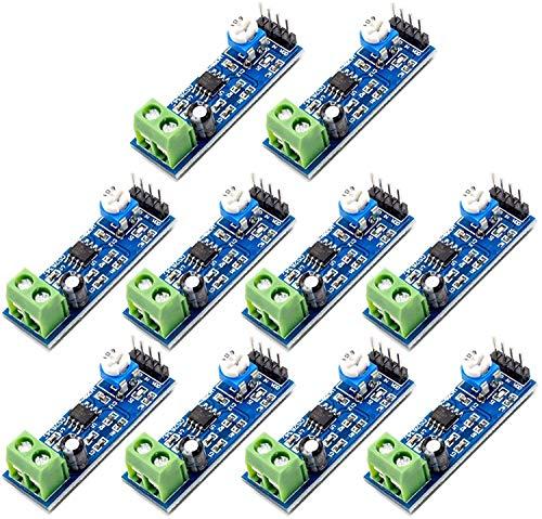 ZHITING 10 pezzi LM386 200 volte guadagno modulo amplificatore di potenza audio (amplificatore di potenza mono scheda amplificatore)