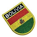 BP0029EV 01 BR44 Bolivien-Flagge bestickt Patch Kontaktverschluss Haken