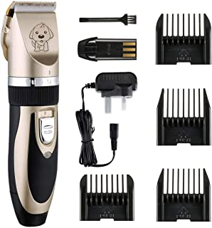 Mumoo Bear Low Noise Cordless Dog Grooming Kit Electric Clippers Trimming for Pet and Cats