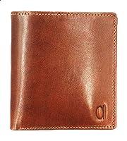 Alfa Leather Co. Engraved Logo Bifold Wallet for Men - Tan
