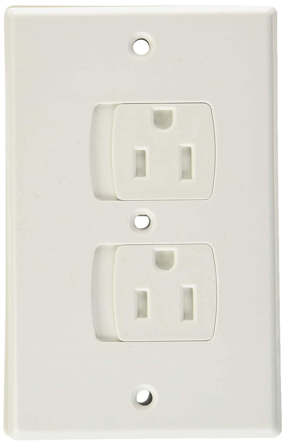 Amazon Com Child Safety Electrical Outlet Covers For Baby Proofing Best Childproofing Self Closing Bpa Free Wall Socket Plate Better Than Plugs Set Of 2 White Baby