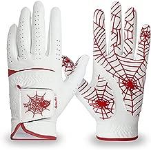 GOuft Premium Suede Spider-Web Unisex Golf Gloves White Edition