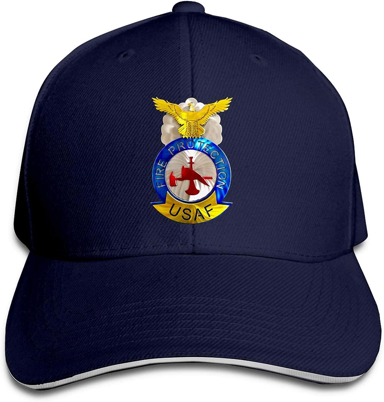 ZJAXING Air Force Fire Protection Badge Baseball Cap Sports Cap Fashion Cap