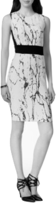 Bar III Womens Printed Jacquard Bodycon Dress Washed White M 434