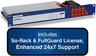 Sophos XG 125 Firewall TotalProtect Bundle with 8 GE ports, FullGuard License, 24x7 Support - 1 Year and SoRack