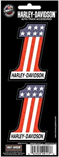 Harley Davidson 3x8 Number One Holographix 2-Piece Decal Set