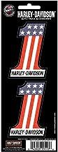 Harley Davidson 3x8 Number One Holographix 2-Piece Decal Set