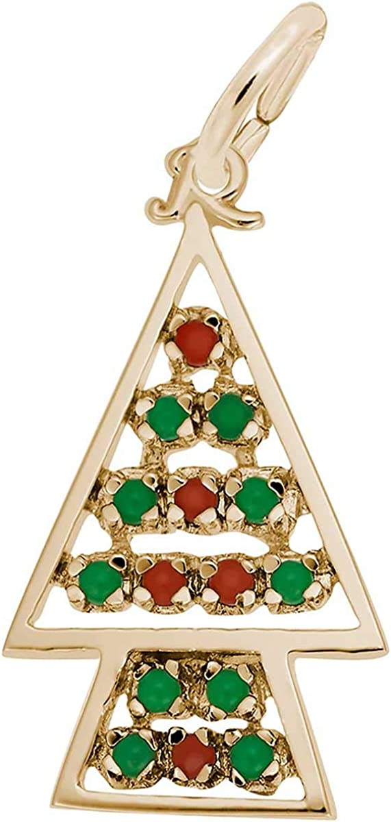 Rembrandt Charms Christmas Max 45% OFF Tree Yellow Gold 10K 4 years warranty Charm