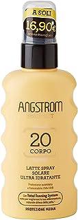 Angstrom Protect Latte Solare in Formato Spray, Protezione Solare Corpo 20+ con Azione Idratante e Duratura, Indicata per ...