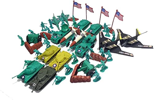 150pc Army Hommes Toy Soldiers Play Set Missiles Jets Tanks B2 Bomber
