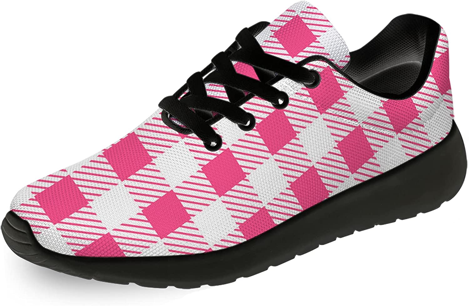 Ciadoon Plaid Shoes Max 61% ! Super beauty product restock quality top! OFF Mens Lightweight Walkin Running Womens