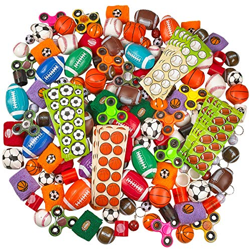 Kicko Sports Balls Toy 250 Piece Assortment - Variety Pack for Classrooms, Playgrounds and Carnivals - for Birthdays, Novelties, Game Prizes, Educational Toys, Party Favors, and Supplies