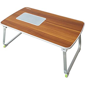 Portronics Por-833 Mybuddy L A Light Weight Strong and Foldable Laptop Cooling Table Cum Standing Office Desk