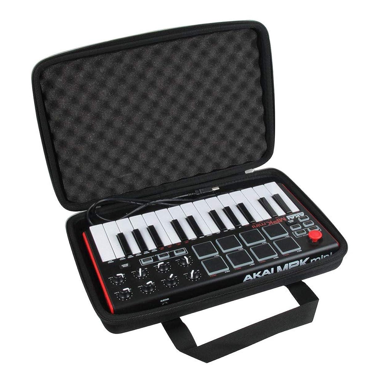 ビルマために退院Akai Professional スタンドアローン?MIDIキーボードコントローラー MPK Mini Play専用収納ケース-Hermitshell