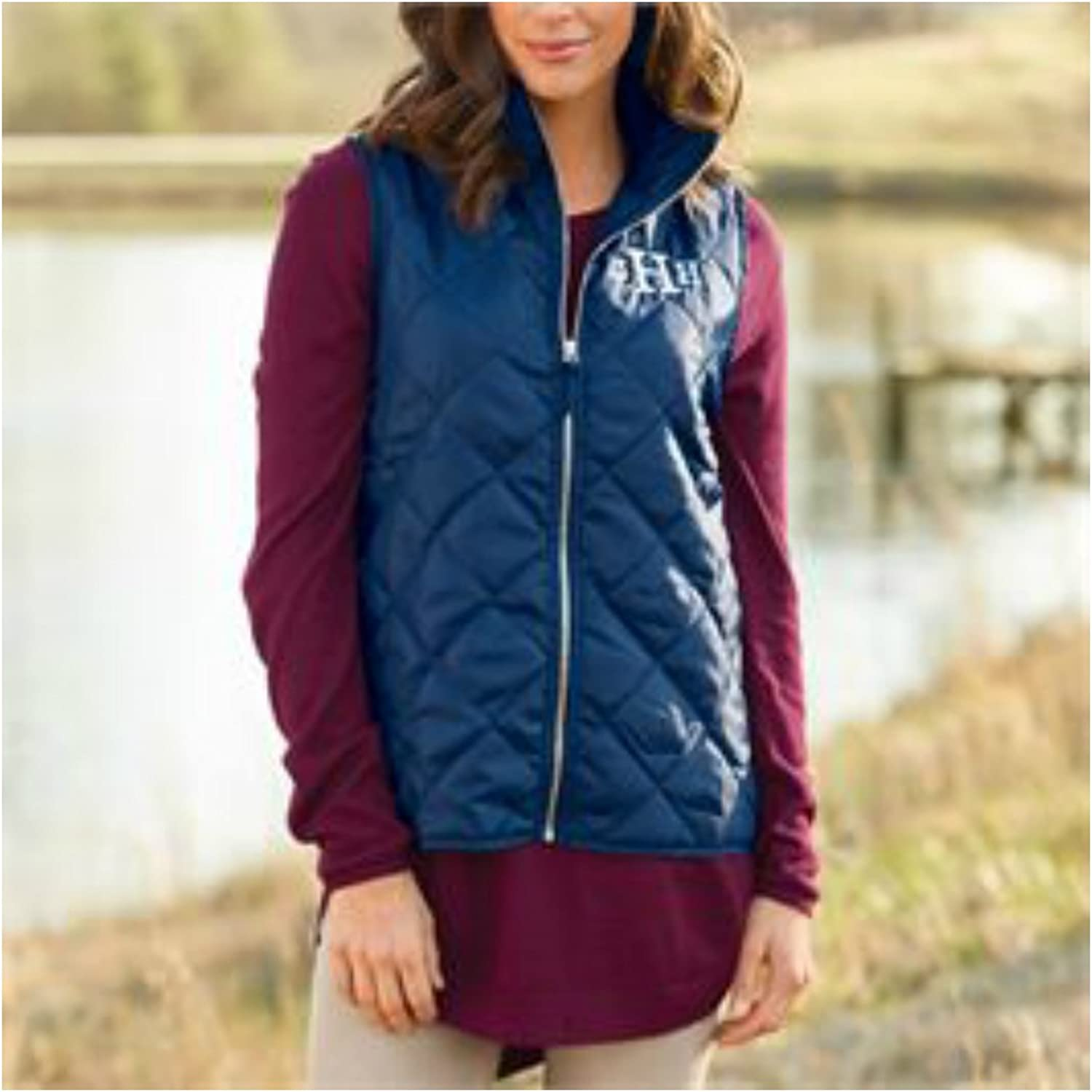 Mud Pie Women's Fashion Spencer Nylon Quilted Navy Vest