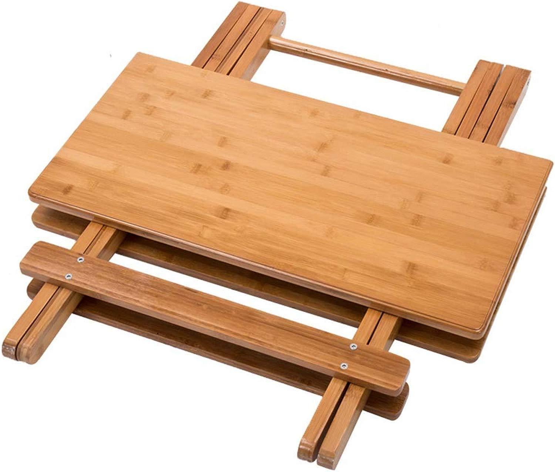FTFTFTF NAN Tavolo di bambù Portatile in Legno massello Tavolo Quadrato Piccolo Appartamento casa Tavolo da Pranzo Tavolo Studio Tavolo Pieghevole Semplice,1,89.5  90  81.5CM