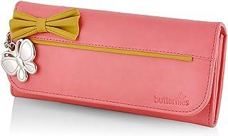 Butterflies Dark Peach Synthetic Women's Wallet (BNS 2379DPCH)