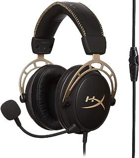 HyperX HX-HSCA-GD/NAP Cloud Alpha Gold - Auriculares para juegos con control de volumen en línea