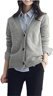 [エムズ ミミ] Vネック カーディガン 羽織り ルーズフィット 柔らか素材 フリーサイズ