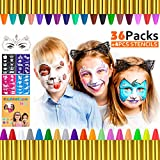 Gifort Trucchi per Truccabimbi, 36 Colori Body Painting Kit con 4 Face Paint Stampini per ...
