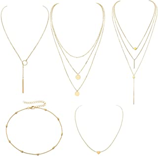 MengPa Boho Layered Necklaces Pendant for Women...