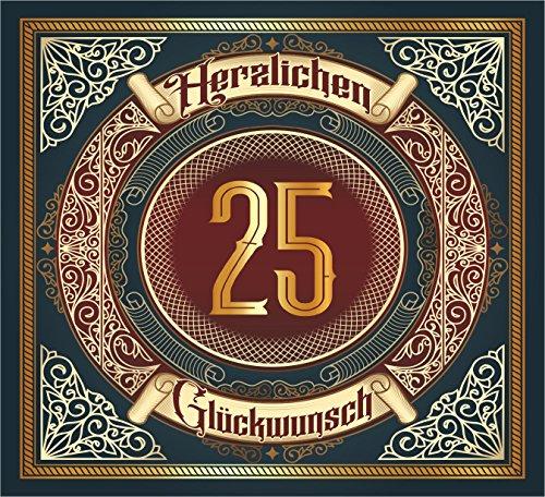 RAHMENLOS 3 St. Aufkleber Original Design: Selbstklebendes Flaschen-Etikett zum 25.Jahrestag Geburtstag oder Jubiläum