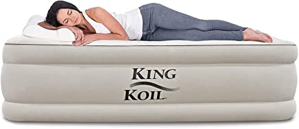 King Koil Twin Size Upgraded Luxury Raised Air Mattress...