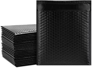 UCGOU 8.5x12 Inch Black Poly Bubble Mailers Padded Envelopes Self Seal Mailing Envelopes Pack of 25