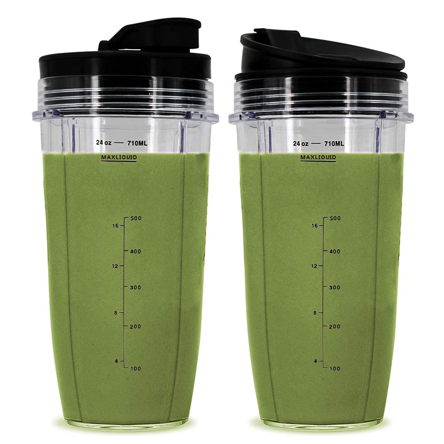 24 oz Cups, Compatible with BL480, BL490, BL640, BL680 for Nutri Ninja Auto IQ Series Blenders (Pack of 2) vdgobgifhvndb0