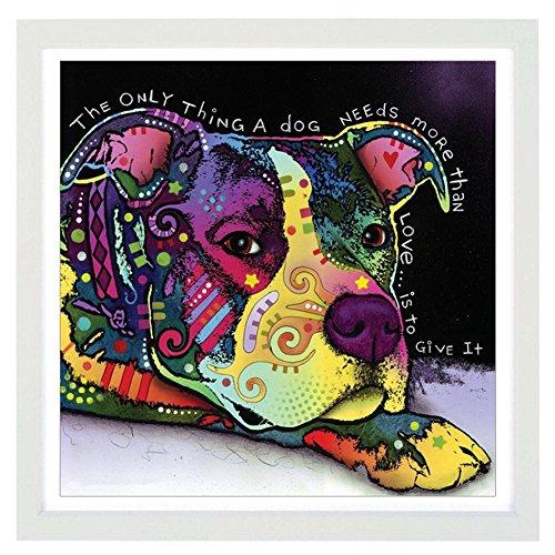 Gemini_mall Peinture à l'huile d'une grenouille faite à la main sur toile, contemporain, sans cadre, toile murale, décoration d'intérieur, chien, 40x40cm/16x16in
