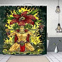 シャワーカーテン牡羊座またはラム星座 防水 目隠し 速乾 高級 ポリエステル生地 遮像 浴室 バスカーテン お風呂カーテン 間仕切りリング付のシャワーカーテン 150 x 180cm