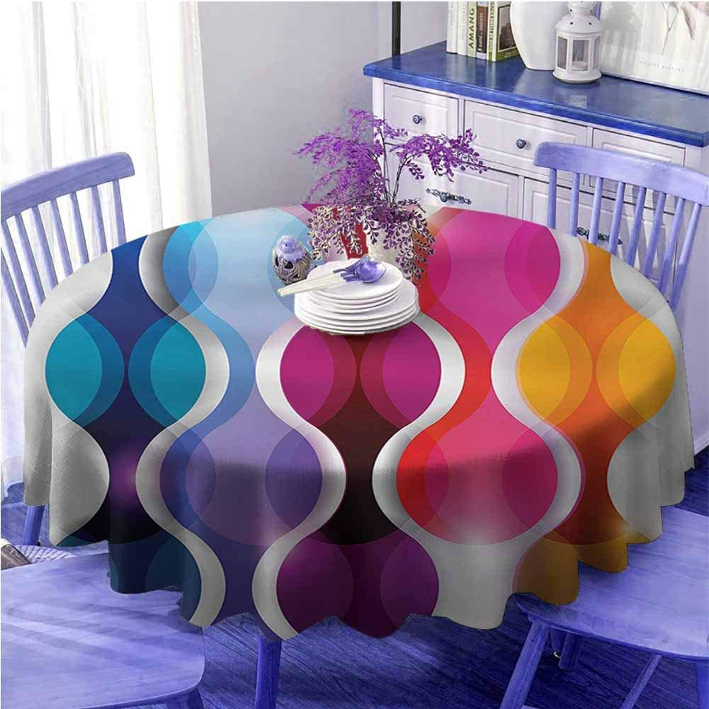 UETECH Colorful Round Fort Boston Mall Worth Mall Tablecloth Abstract Vector Modern Graphic