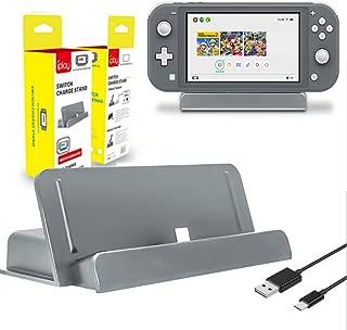Maxku Nintendo Switch Lite 卓上ホルダー 充電クレードル 充電スタンド USB Type-C ドック Nintendo Switch Liteに対応 (グレー)